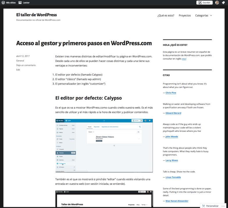 Imparto un curso de WordPress para el equipo docente de EASD ...